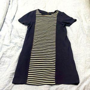 JCrew stripe panel dress with stretch